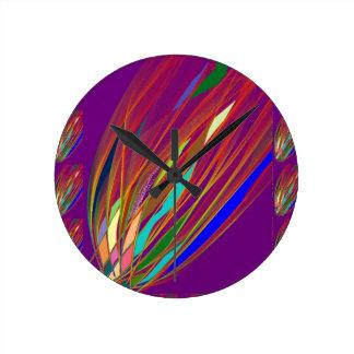 Fire Flare : Celebration HandCrafted Art : ENJOY Round Clock