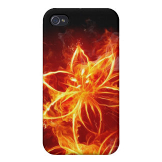 Fire Flower iphone 4 Cases For iPhone 4