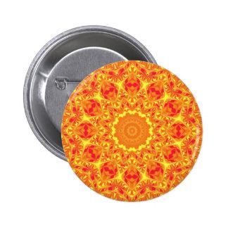 Fire Flower Kaleidoscope Buttons