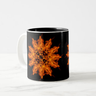 Fire Flower Mandala Fire Art Coffee Mug