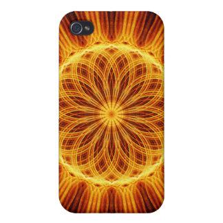 Fire Flower Mandala iPhone 4 Cases