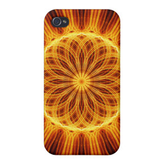 Fire Flower Mandala iPhone 4 Covers
