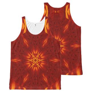Fire Flowers 100 TT1 SDL All-Over Print Singlet
