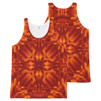 Fire Flowers 187 TT1 SDL All-Over Print Singlet