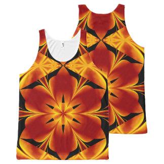 Fire Flowers 94 TT1 SDL All-Over Print Singlet