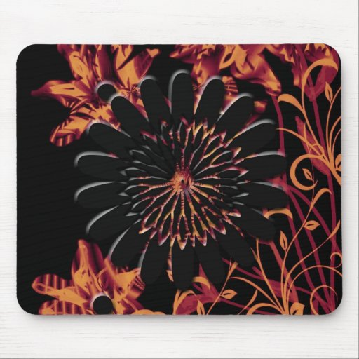"""Fire Flowers""device skins & cases"".* Mousepad"
