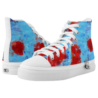 Fire Flowers High Top Sneakers