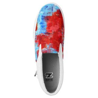 Fire Flowers Slip On Sneakers