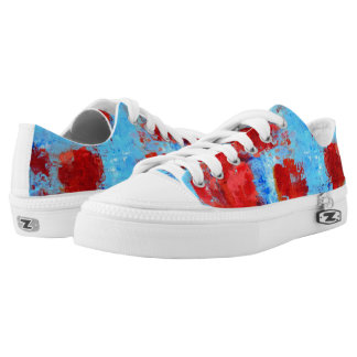 Fire Flowers Summer Sneakers