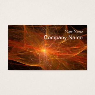 Fire Fractal Flame Business Card