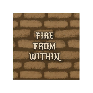Fire From Within Wood Print