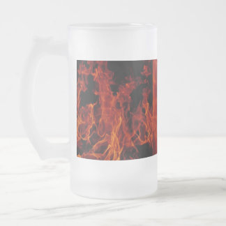 Fire Frosted Glass Beer Mug