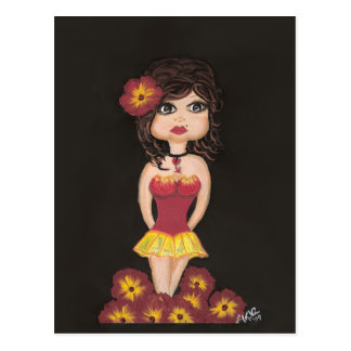 Fire Girl Quantum Cutie Girl Post Card