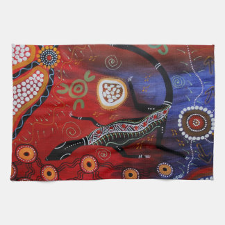 Fire Goanna MoJo Kitchen Towel