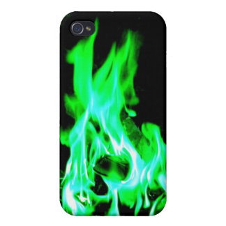 Fire Green & Blue Covers For iPhone 4