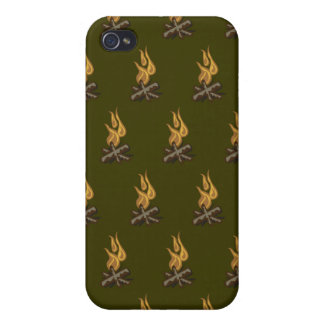 Fire Green Covers For iPhone 4