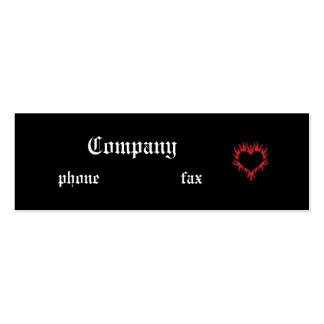 Fire Heart Black Gothic Business Card