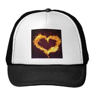 FIRE HEART MESH HATS