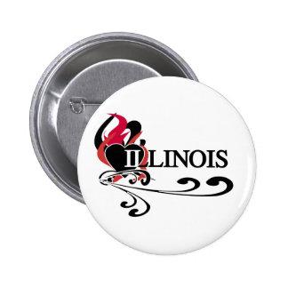 Fire Heart Illinois Pin