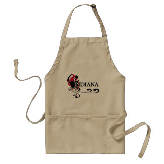 Fire Heart Indiana Adult Apron