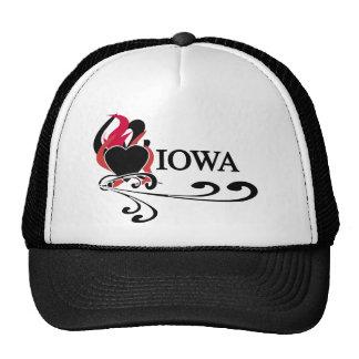Fire Heart Iowa Mesh Hat