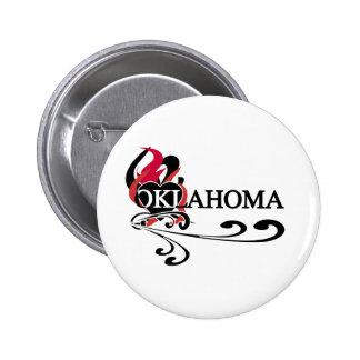 Fire Heart Oklahoma Pinback Buttons