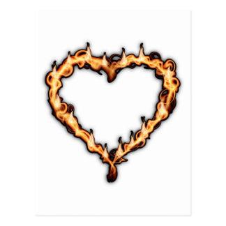 Fire heart postcard