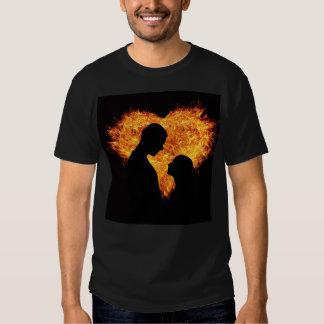 fire heart t-shirts