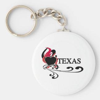 Fire Heart Texas Key Chains