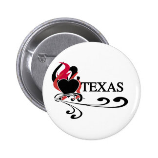 Fire Heart Texas Pins