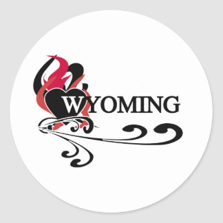 Fire Heart Wyoming Stickers