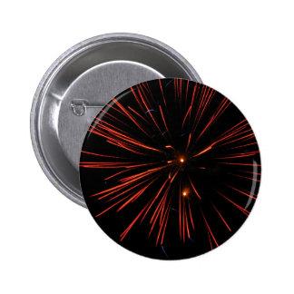 Fire Hearts 6 Cm Round Badge