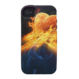 Fire Hearts iPhone 4 Cover