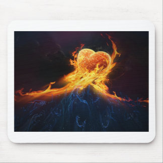 Fire Hearts Mouse Pad