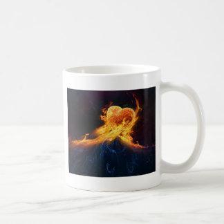 Fire Hearts Coffee Mugs