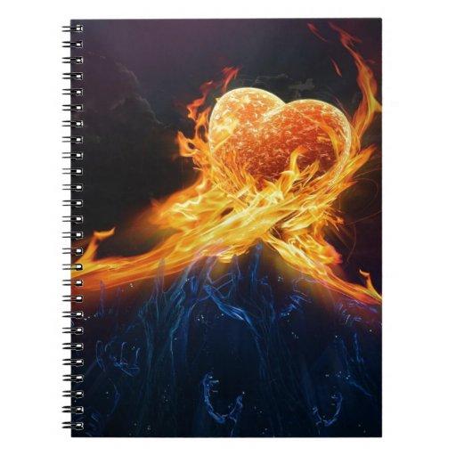 Fire Hearts Notebooks