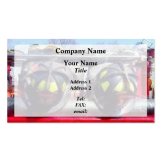Fire Helmet and Boots Business Card Templates