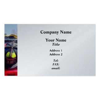 Fire Helmet and Boots Business Cards
