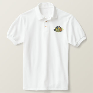 Fire Helmet Embroidered Polo Shirts
