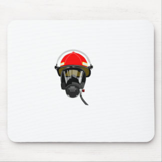 Fire Helmet Mouse Pad