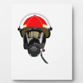 Fire Helmet Plaque