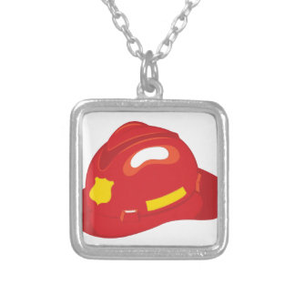 Fire Helmet Silver Plated Necklace