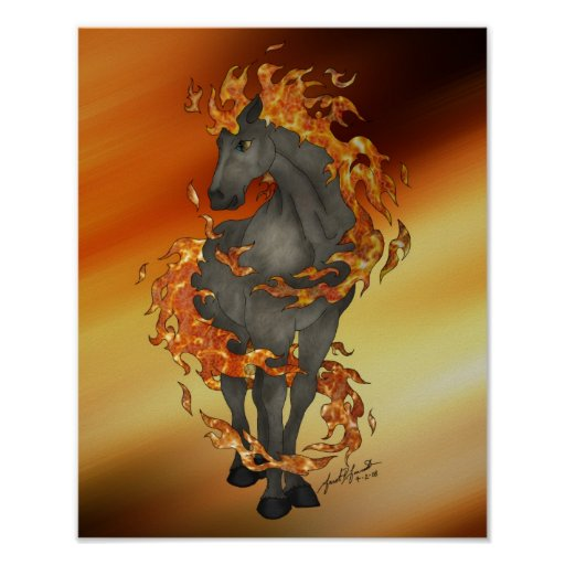 Fire Horse (16x20) Poster