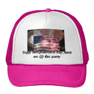 fire horse, american flag july 4th, Happy indep... Cap