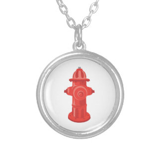 Fire Hydrant 2 Silver Plated Necklace