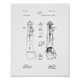 Fire Hydrant Patent Poster