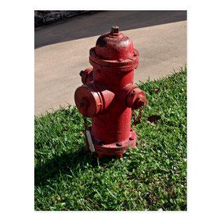 Fire hydrant postcard