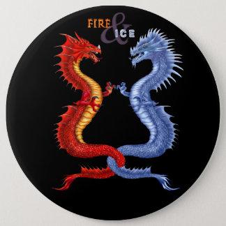 FIRE & ICE 6 CM ROUND BADGE