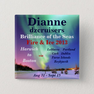 fire ice brilliance 2013 august name tag 15 cm square badge