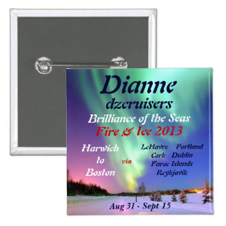 fire ice brilliance 2013 august name tag button